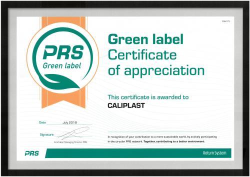 label vert PRS